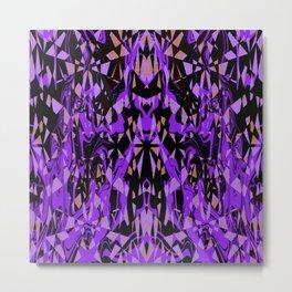 Purple and Black Abstract Metal Print