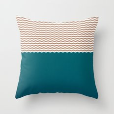 Empty Ocean Throw Pillow