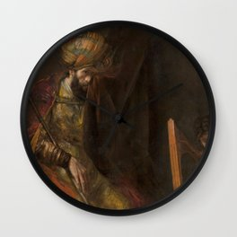 Saul and David - Rembrandt  Wall Clock