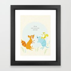 sing (blue) Framed Art Print