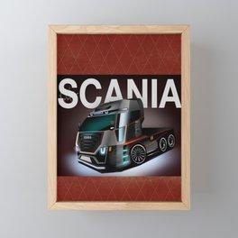 The Future Truck Framed Mini Art Print