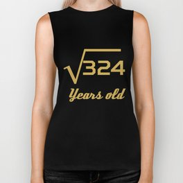 Square Root Of 324 Funny 18 Years Old 18th Birthday Biker Tank