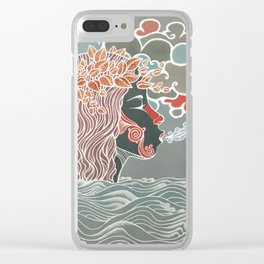 Amazing whispering mermaid Clear iPhone Case
