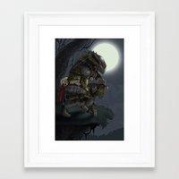 predator Framed Art Prints featuring Predator by Sean Sweeney