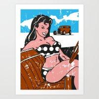 Bonneville Babe Art Print