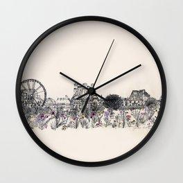 Jardins des Tuileries Wall Clock