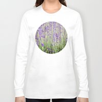 lavender Long Sleeve T-shirts featuring Lavender by A Wandering Soul