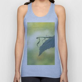Female European Mantis or Praying Mantis, Mantis religiosa, on a leaf Unisex Tank Top