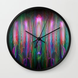 Fractal Angels V Wall Clock