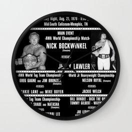 #3-B Memphis Wrestling Window Card Wall Clock