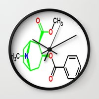 cocaine Wall Clocks featuring Cocaine by TLineInc