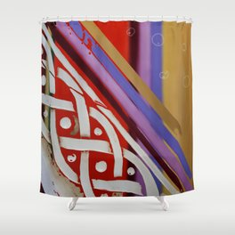 Celtic Knot with Autumn Colors Shower Curtain