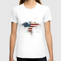 american flag T-shirts featuring AMERICAN FLAG by Oksana Smith