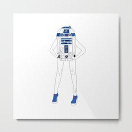 Girl R2-D2 Metal Print