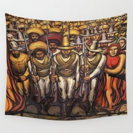 From the Dictatorship of Porfirio Díaz to the Revolution, The People in Arms by David Siqueiros Wall Tapestry