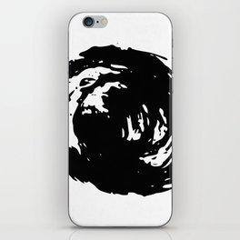Whorl Black on White iPhone Skin