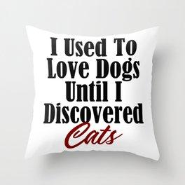 Funny Cat Dog Kitty Lover Meow Kitten Pet Whisperer Throw Pillow