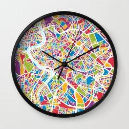 Rome Italy Street Map Wall Clock