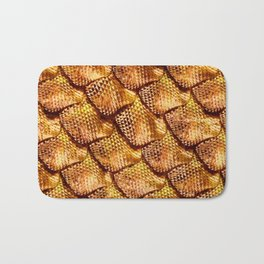 3d abstract snake skin, reptile scale Bath Mat