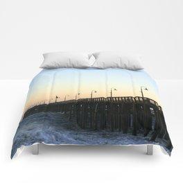 Ventura Ocean Wave Storm Pier Comforters