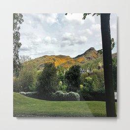 The Mountains Of Edinburgh Scotland Metal Print