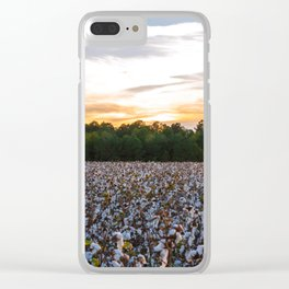 Cotton Field 11 Clear iPhone Case