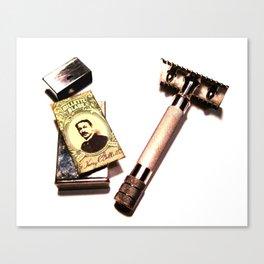 Vintage Shaving Kit Canvas Print