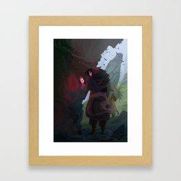 Rune Stone Framed Art Print