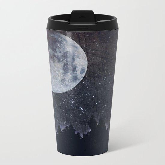 Starry moon  Metal Travel Mug