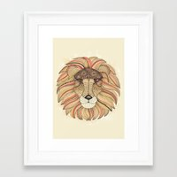 leo Framed Art Prints featuring Leo by Vibeke Koehler