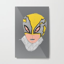 Little Lucha Libre  Metal Print