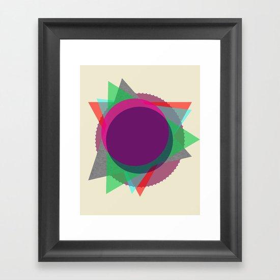 Random Circle's and Triangle's Framed Art Print