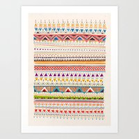 sandra dieckmann Art Prints featuring Pattern by Sandra Dieckmann