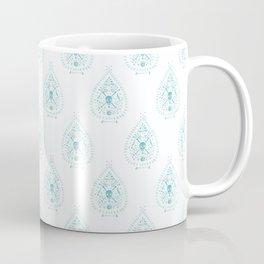 Paisley Skulls in Aqua Watercolor Coffee Mug