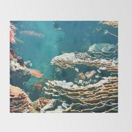 Coral Reef Throw Blanket