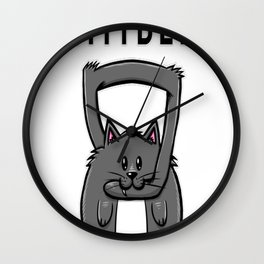 Kittybell Kettlebell Wall Clock