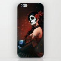 dia de los muertos iPhone & iPod Skins featuring Dia de los Muertos by Giorgio Baroni