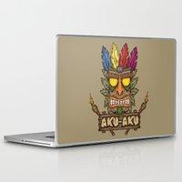 playstation Laptop & iPad Skins featuring Aku-Aku (Crash Bandicoot) by Pancho the Macho