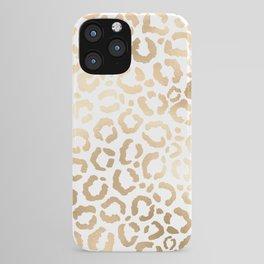 Elegant Gold White Leopard Cheetah Animal Print iPhone Case