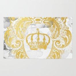 White Peonies Crown Rug