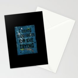 Die Trying Stationery Cards