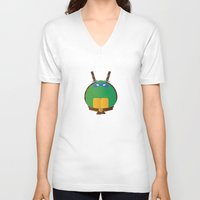 leonardo V-neck T-shirts featuring Leonardo by East Atlantic Design