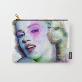 Marilyn under brushes effects Carry-All Pouch