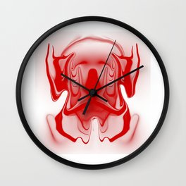 mask1 red Wall Clock