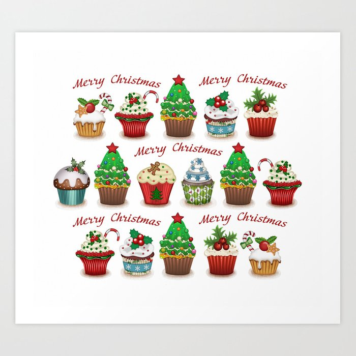 Christmas Sweets.Christmas Sweets Art Print By Catyarte