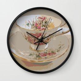 Tea   Vintage Teacup   Still Life Wall Clock