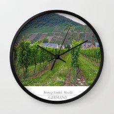 Vineyard near Moselle Wall Clock