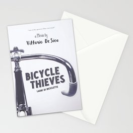 Bicycle Thieves - Movie Poster for De Sica's masterpiece. Neorealism film, fine art print. Stationery Cards