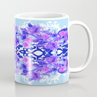 baroque Mugs featuring Baroque Blue by Aimee St Hill