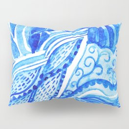 watercolor blue composition Pillow Sham